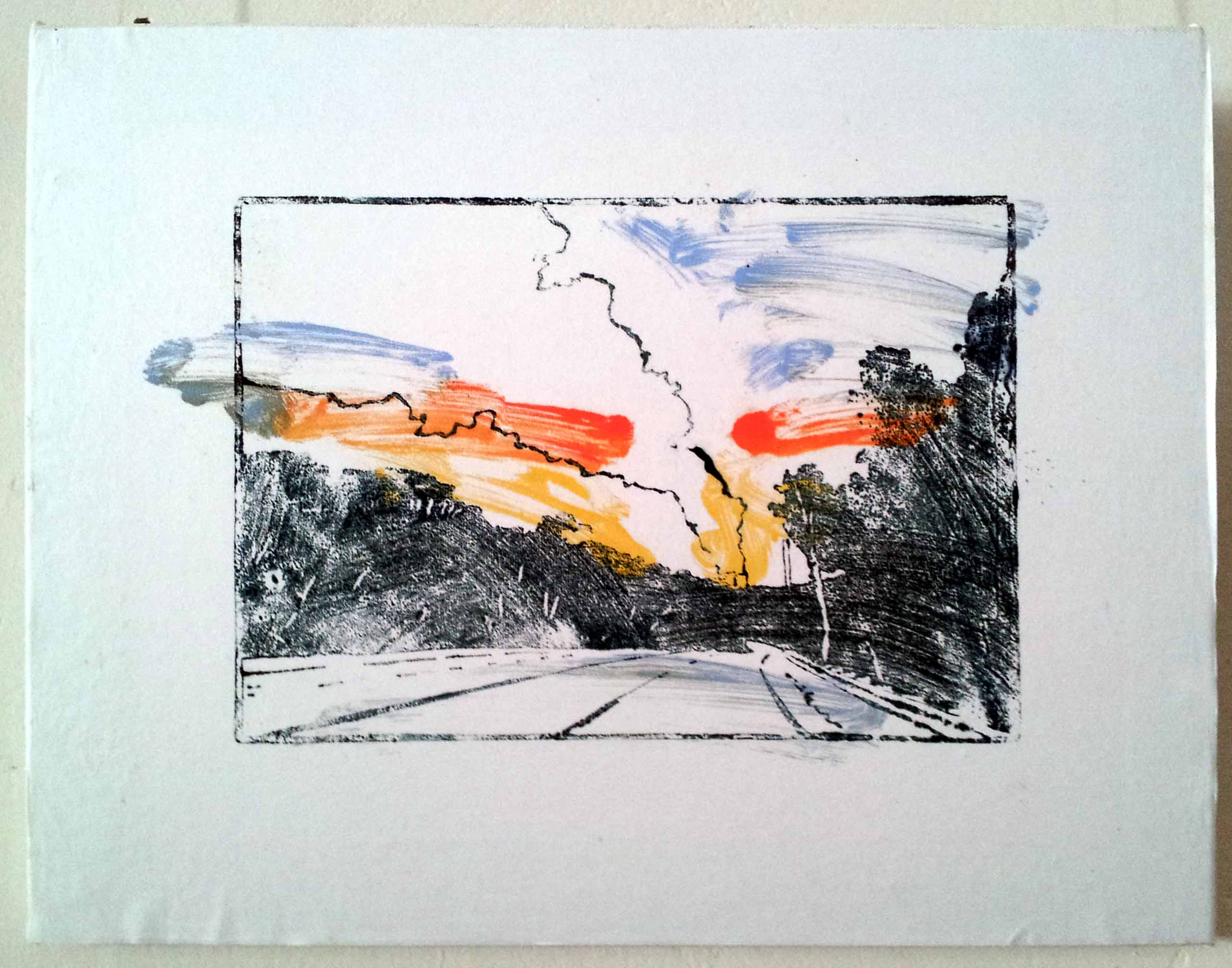 'And the Penny Dropp'd - Point Piper 2' 2014, serial monoprint, oil on woodblock on chinese paper laid on canvas, 35 cm (h) x 45 cm (w)