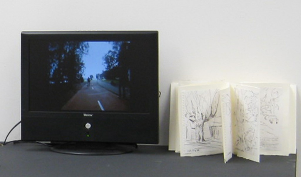 'Taking a Line for a Ride' 2011, real time video, d.i.y. sketch book.