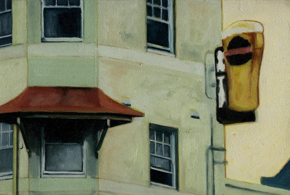 'Camellia Grove Hotel' (2000) Oil on cotton 25cm x 30 cm approx